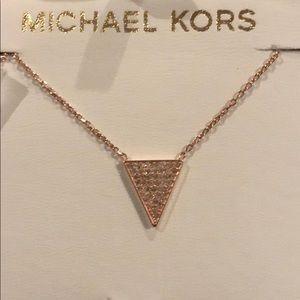 Michel Kors rose gold necklace